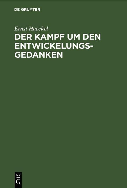 Cover-Bild Der Kampf um den Entwickelungs-Gedanken
