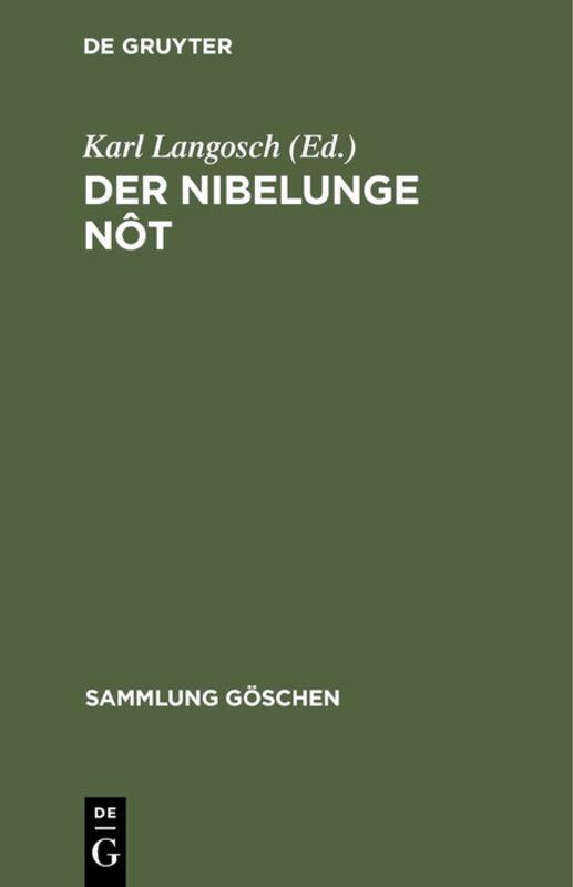 Cover-Bild Der Nibelunge Nôt