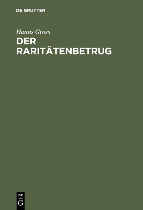Cover-Bild Der Raritätenbetrug