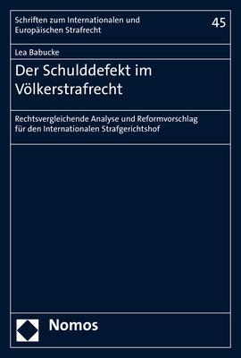 Cover-Bild Der Schulddefekt im Völkerstrafrecht