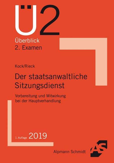 Cover-Bild Der staatsanwaltliche Sitzungsdienst