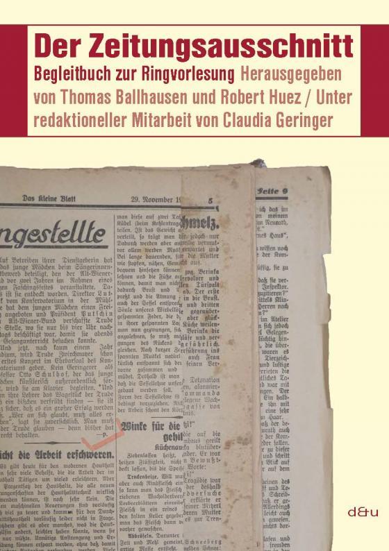 Cover-Bild Der Zeitungsausschnitt
