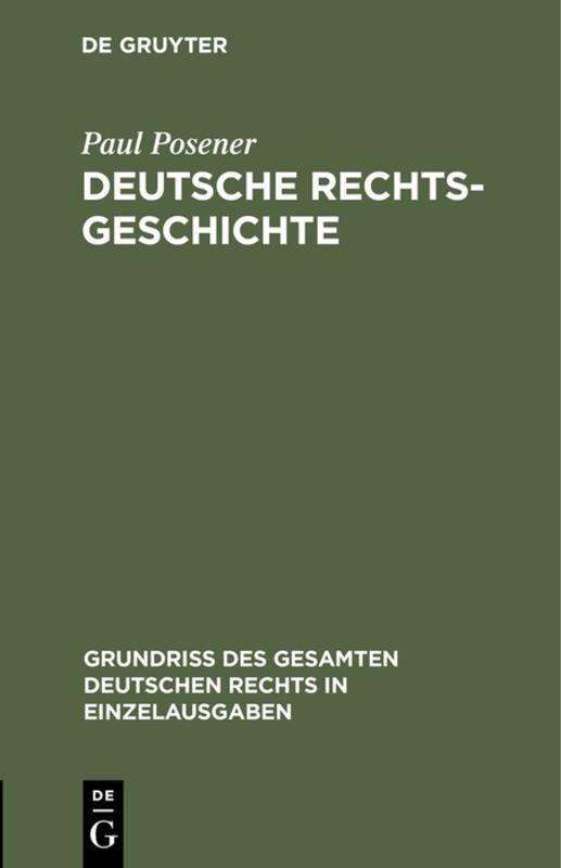 Cover-Bild Deutsche Rechtsgeschichte