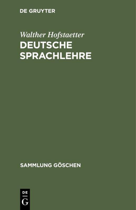 Cover-Bild Deutsche Sprachlehre