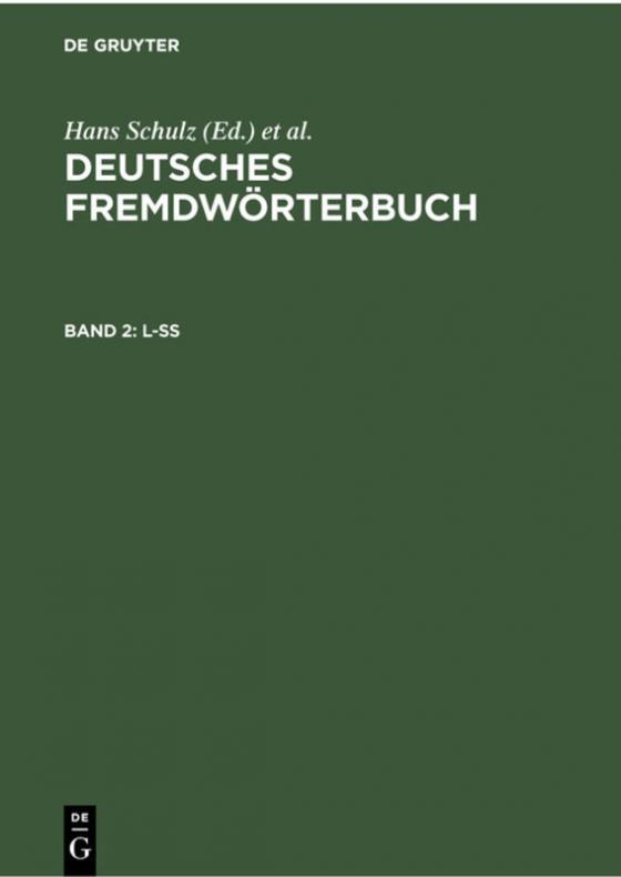 Cover-Bild Deutsches Fremdwörterbuch / L-ß