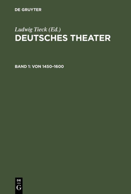 Cover-Bild Deutsches Theater / Von 1450–1600