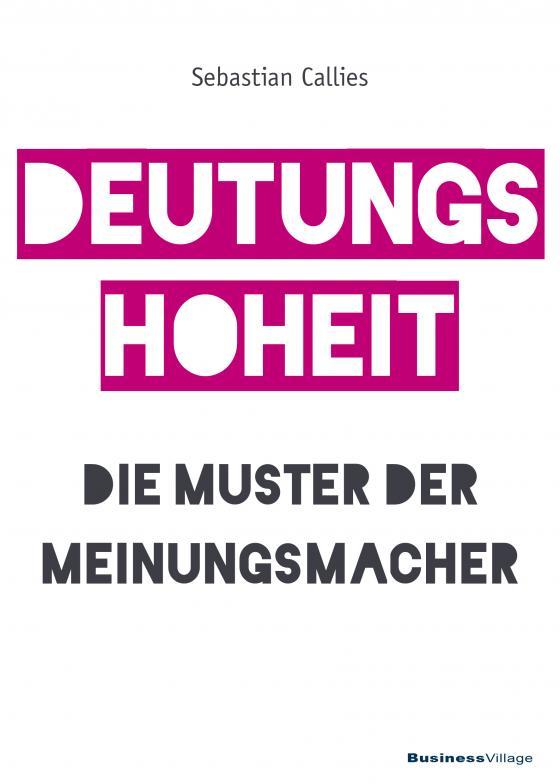 Cover-Bild DEUTUNGSHOHEIT