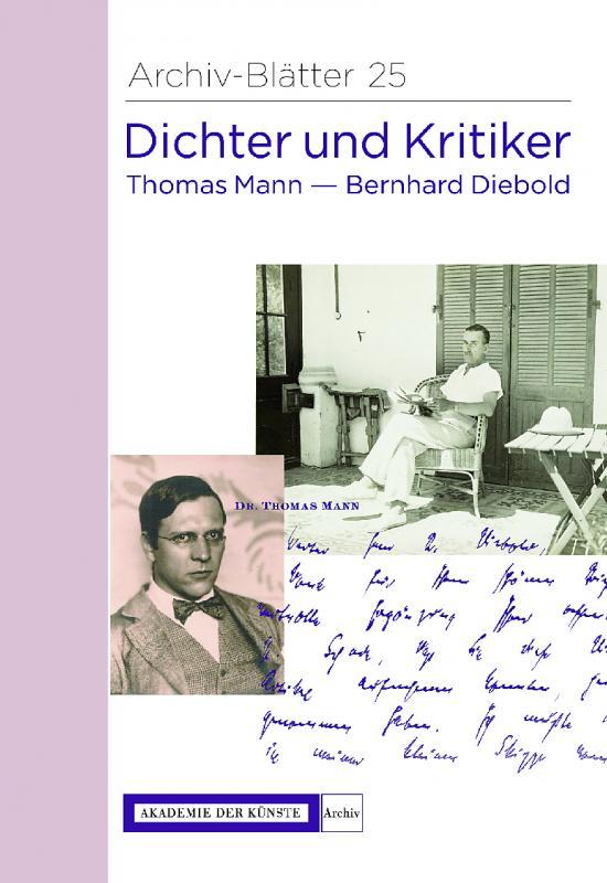 Cover-Bild Dichter und Kritiker. Thomas Mann und Bernhard Diebold