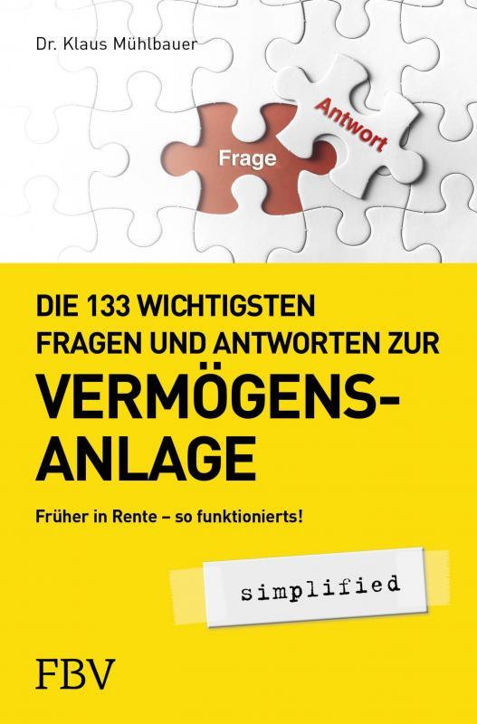 Cover-Bild Die 133 wichtigsten Fragen und Antworten zur Vermögensanlage simplified