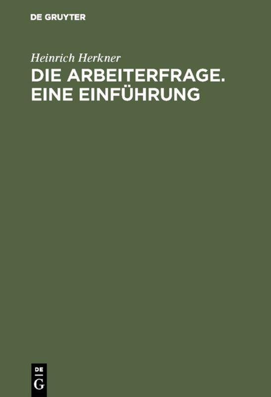 Cover-Bild Die Arbeiterfrage. Eine Einführung