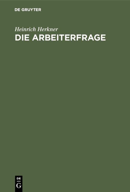 Cover-Bild Die Arbeiterfrage