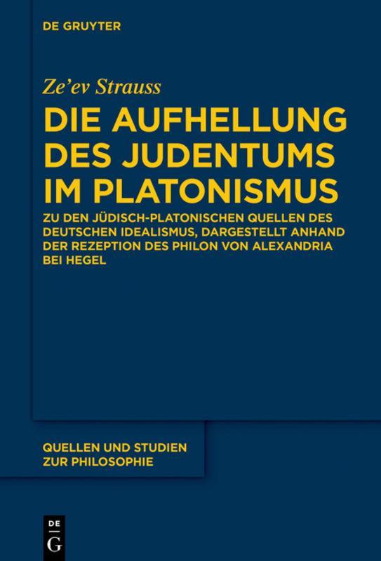 Cover-Bild Die Aufhellung des Judentums im Platonismus