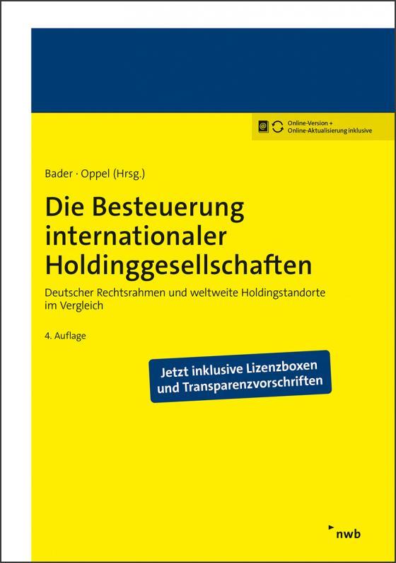 Cover-Bild Die Besteuerung internationaler Holdinggesellschaften