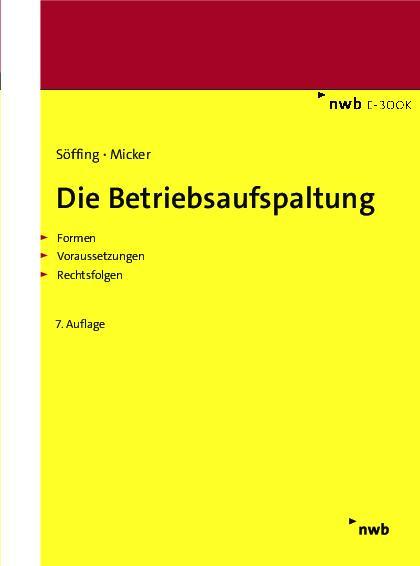 Cover-Bild Die Betriebsaufspaltung