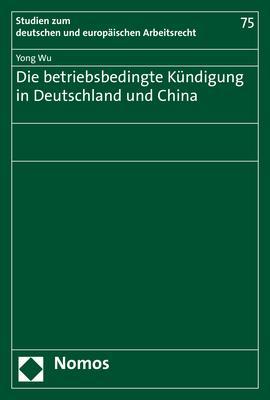 Cover-Bild Die betriebsbedingte Kündigung in Deutschland und China