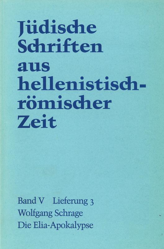 Cover-Bild Die Elia-Apokalypse