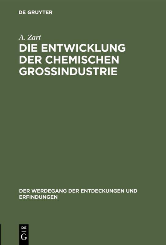 Cover-Bild Die Entwicklung der chemischen Großindustrie