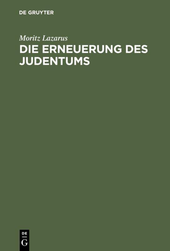 Cover-Bild Die Erneuerung des Judentums