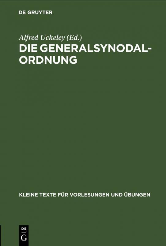 Cover-Bild Die Generalsynodal-Ordnung