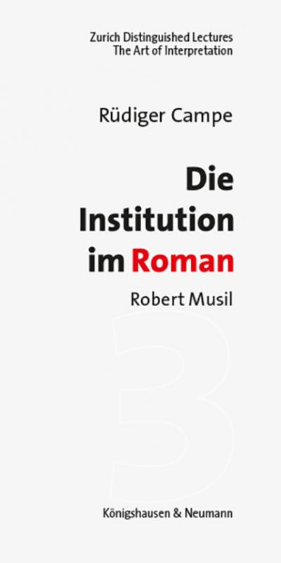Cover-Bild Die Institution im Roman