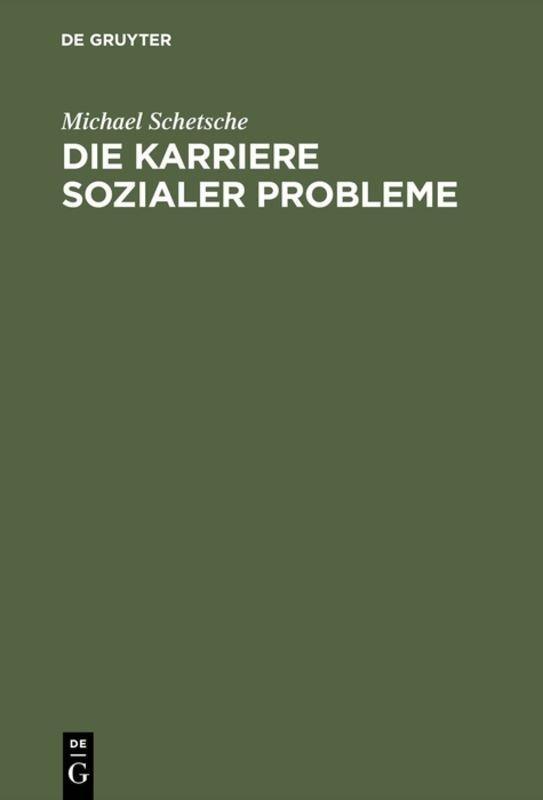 Cover-Bild Die Karriere sozialer Probleme