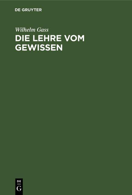 Cover-Bild Die Lehre vom Gewissen