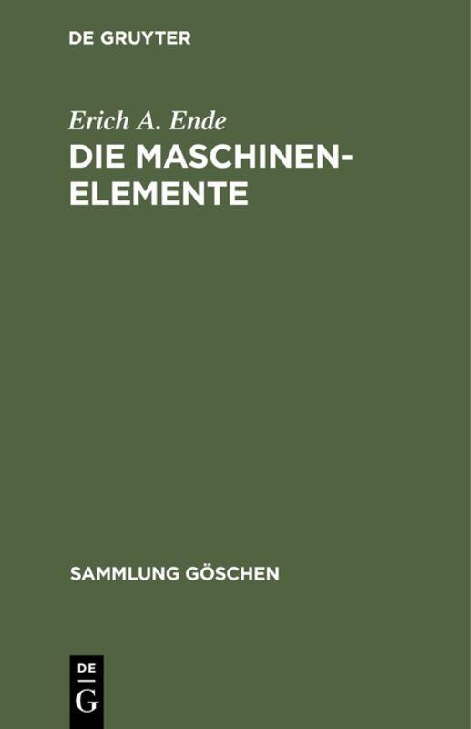 Cover-Bild Die Maschinenelemente