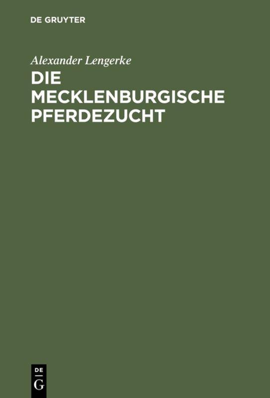 Cover-Bild Die mecklenburgische Pferdezucht