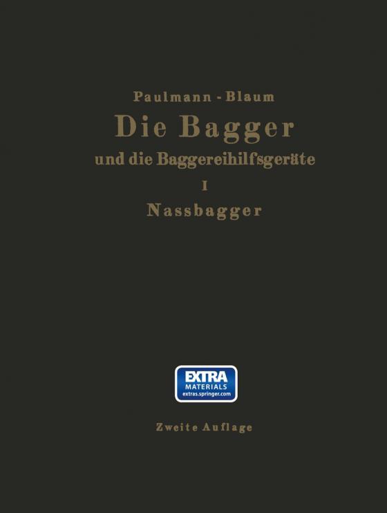 Cover-Bild Die Nassbagger und die dazu gehörenden Hilfsgeräte