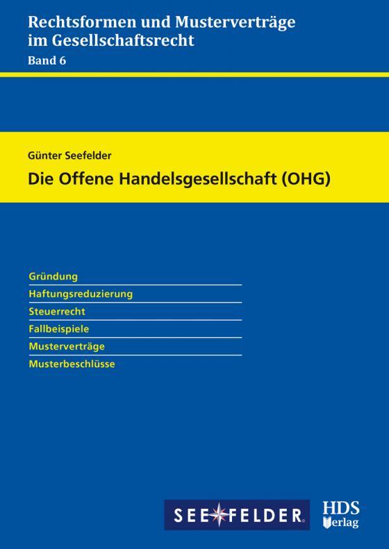 Cover-Bild Die Offene Handelsgesellschaft (OHG)