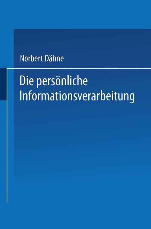 Cover-Bild Die persönliche Informationsverarbeitung