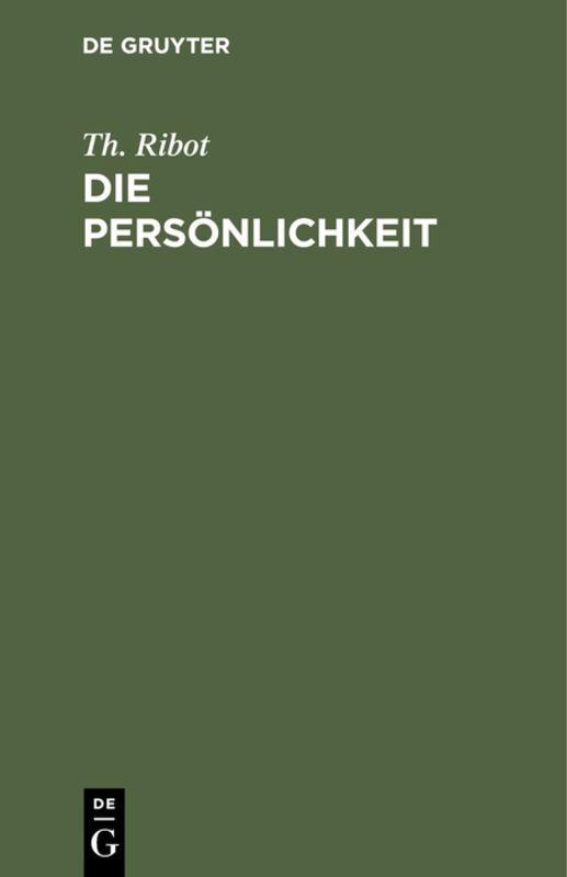 Cover-Bild Die Persönlichkeit