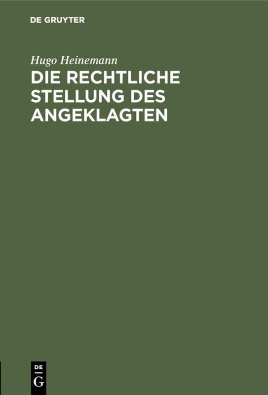 Cover-Bild Die rechtliche Stellung des Angeklagten