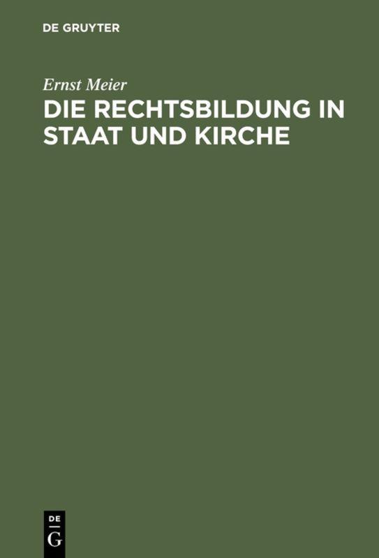 Cover-Bild Die Rechtsbildung in Staat und Kirche