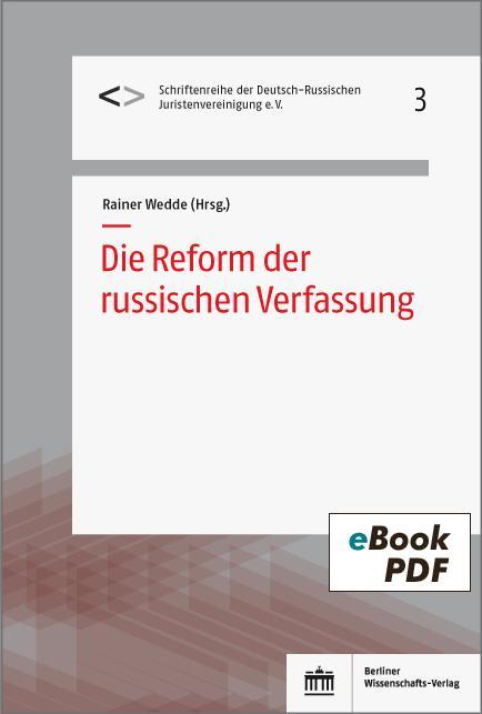 Cover-Bild Die Reform der russischen Verfassung