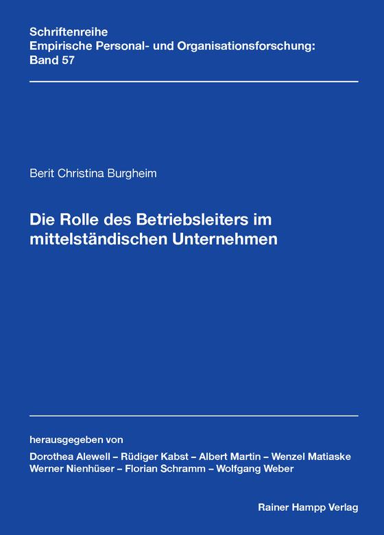 Cover-Bild Die Rolle des Betriebsleiters im mittelständischen Unternehmen
