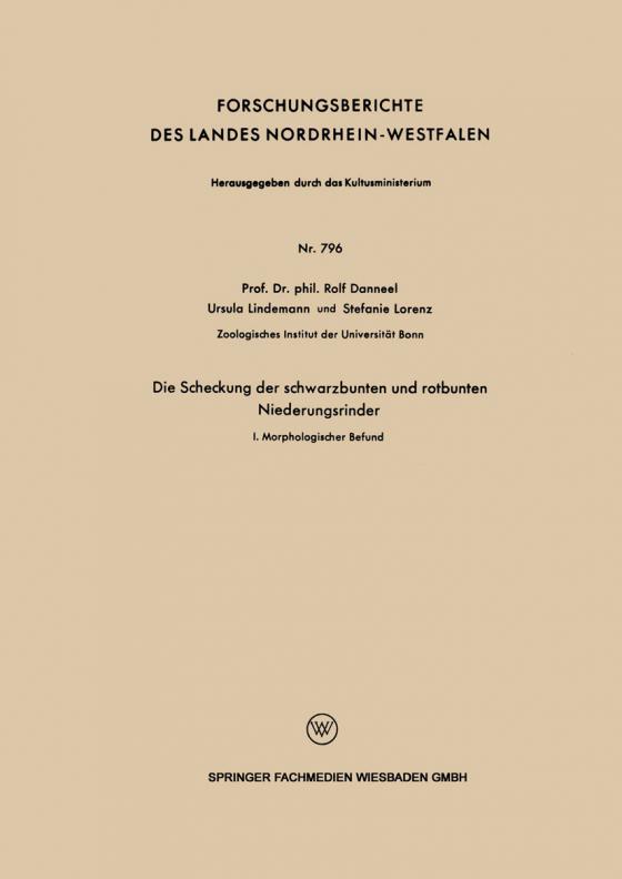 Cover-Bild Die Scheckung der schwarzbunten und rotbunten Niederungsrinder
