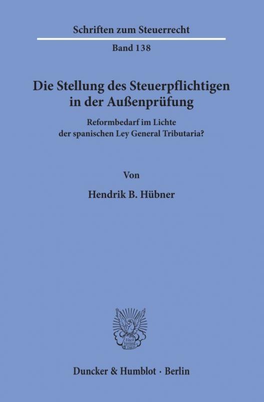 Cover-Bild Die Stellung des Steuerpflichtigen in der Außenprüfung.
