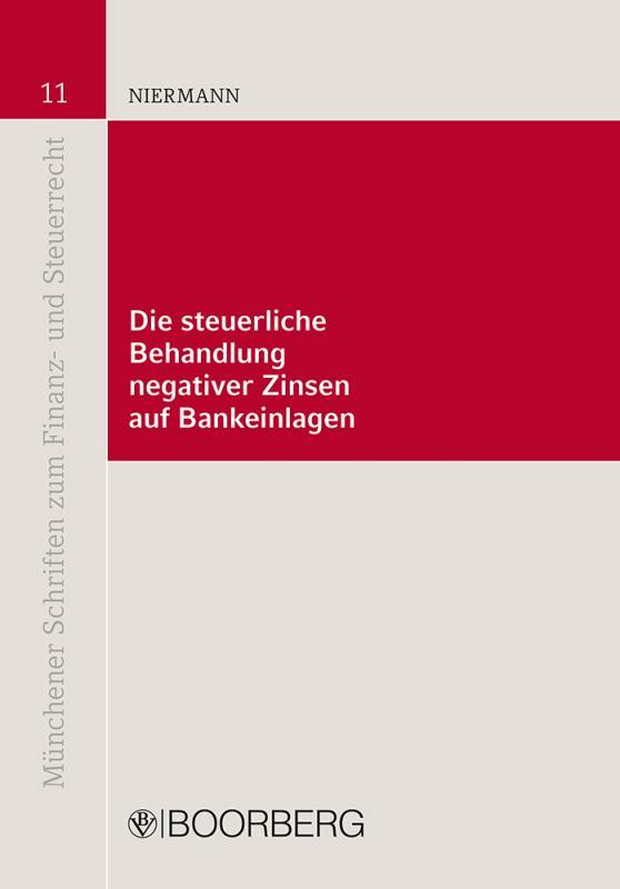 Cover-Bild Die steuerliche Behandlung negativer Zinsen auf Bankeinlagen