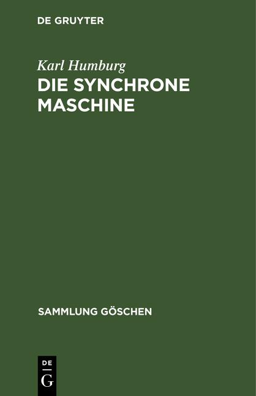 Cover-Bild Die synchrone Maschine