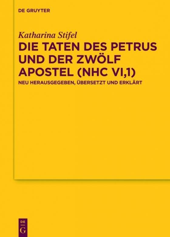 Cover-Bild Die Taten des Petrus und der zwölf Apostel (NHC VI,1)