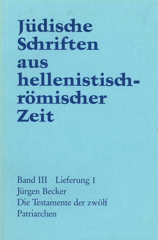Cover-Bild Die Testamente der zwölf Patriarchen