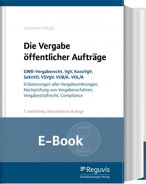 Cover-Bild Die Vergabe öffentlicher Aufträge (E-Book)