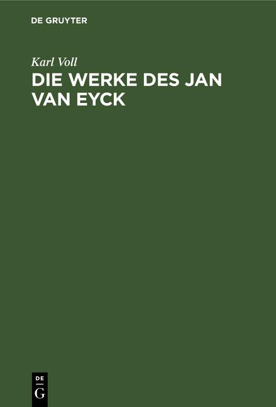 Cover-Bild Die Werke des Jan van Eyck
