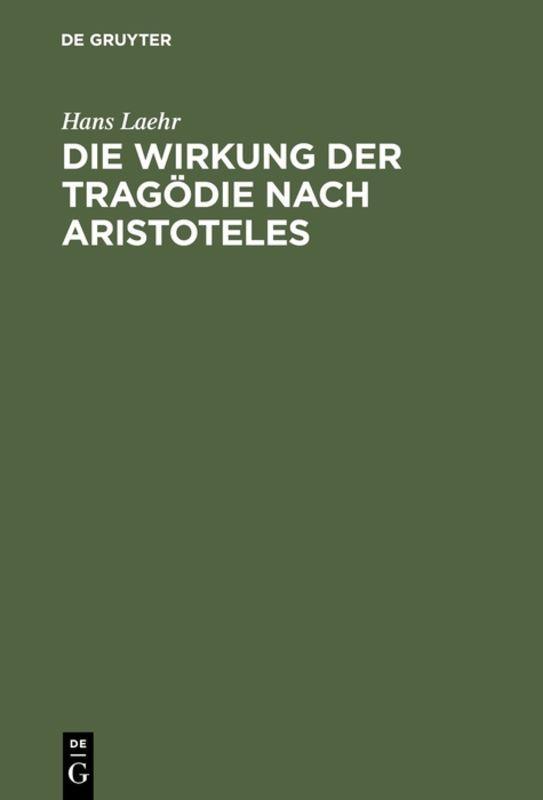 Cover-Bild Die Wirkung der Tragödie nach Aristoteles