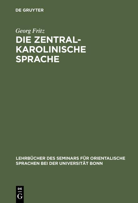 Cover-Bild Die zentralkarolinische Sprache