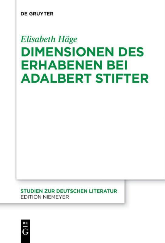 Cover-Bild Dimensionen des Erhabenen bei Adalbert Stifter