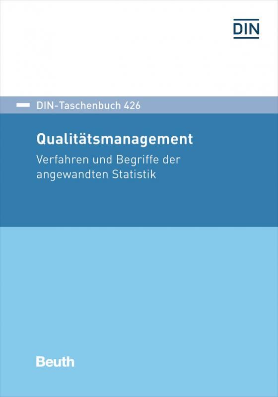Cover-Bild DIN-Taschenbuch 426 Qualitätsmanagement