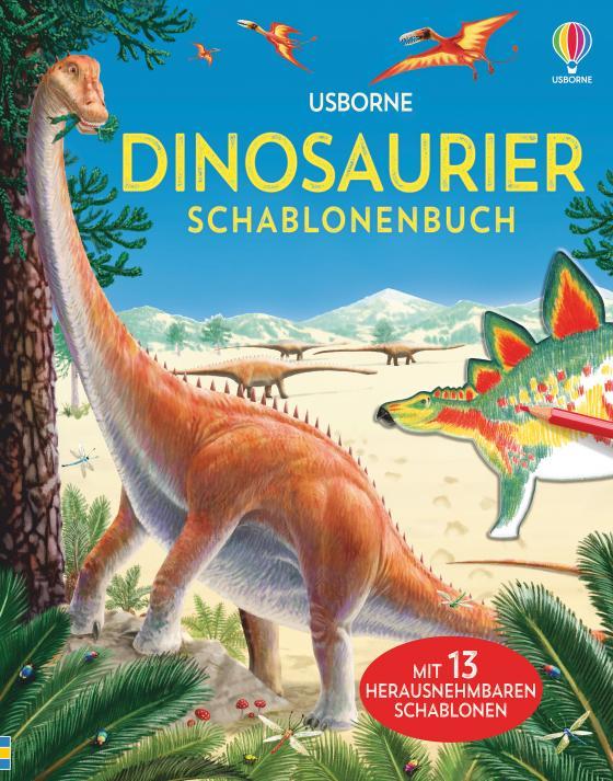 Cover-Bild Dinosaurier Schablonenbuch