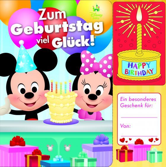 Cover-Bild Disney Baby - Micky und Minnie - Zum Geburtstag viel Glück! - Geburtstags-Soundbuch mit 1 Melodie und leuchtender Kerze - Pappbilderbuch für Kinder ab 12 Monaten